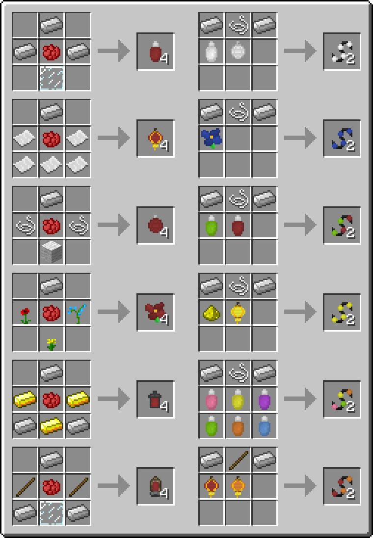 How Do You Craft Fairy Lights In Minecraft Mrcrayfish