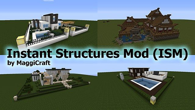 Instant Structures Mod For Mc 1 10 2 1 9 4 1 8 9 Minecraft Mod Download