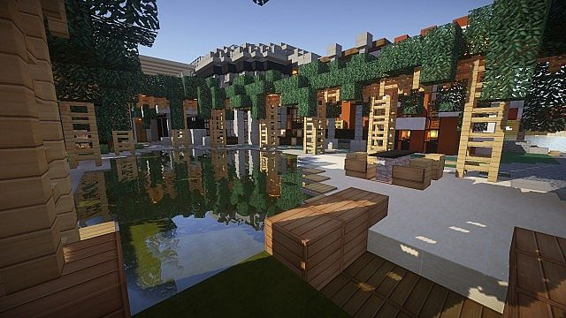 minecraft beach house map download
