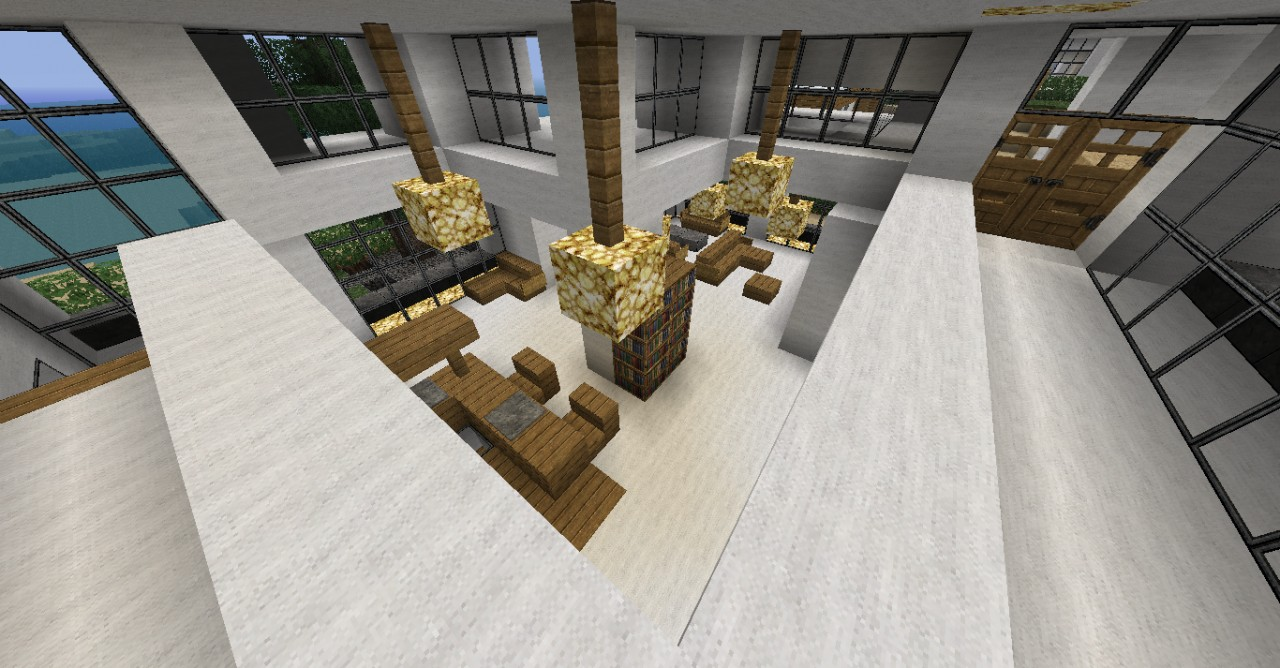Minecraft modern house map for mc 1 8 8 minecraft mod for Modern house map