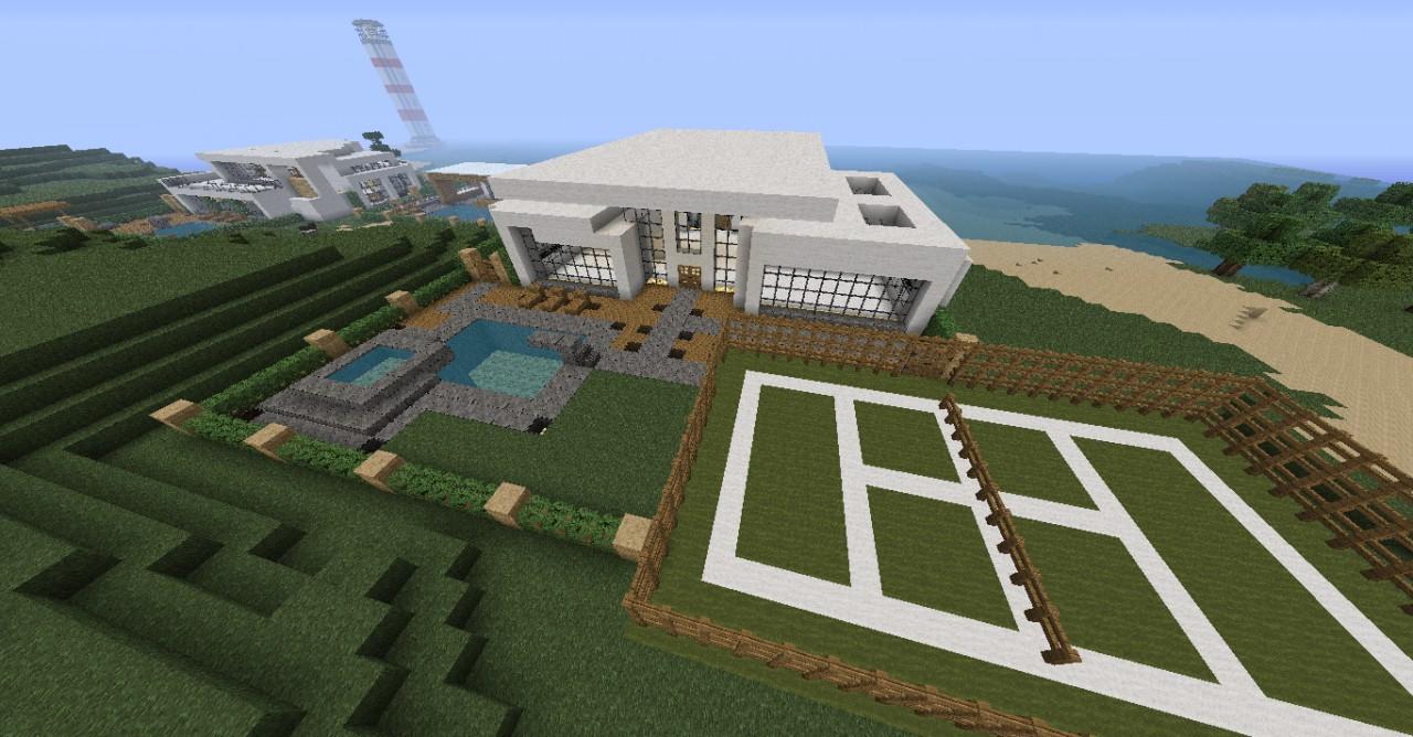 Minecraft modern house map for mc 1 8 8 minecraft mod for Minecraft modern house download 1 8