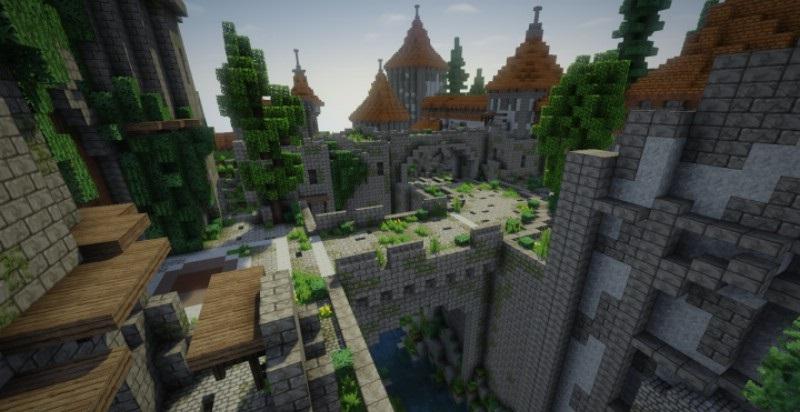 Minecraft Christmas Map.Overwatch Eichenwalde Castle Map For Minecraft Minecraft