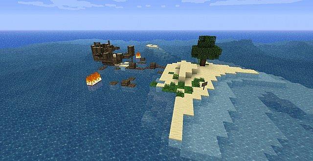 Survival Island – Stranded Map MC [1 8 9] - Minecraft mod