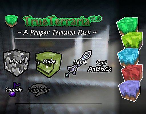 True Terraria Resource Pack for MC [1 8 9] - Minecraft mod
