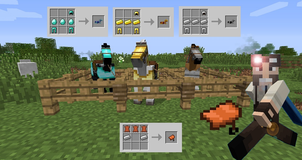 How To Craft Horse Armor In Minecraft Pe