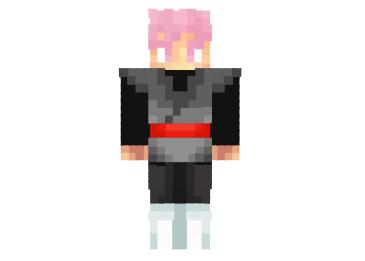 Goku Black Rose Skin Super Saiyan Rose Minecraft Mod - Skin para minecraft pe goku