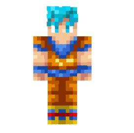 Skin De Goku Ssj Dios Para Minecraft Alpha Beta Demo - Skins para minecraft pe de goku