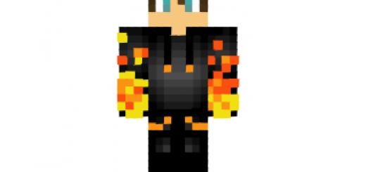 Minecraft Skins Best Top For Minecraft Skins List - Skin para minecraft pe fuego