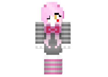 download minecraft mangle girl skin