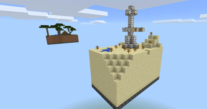 Skyblock Biome Map for MCPE - Minecraft mod