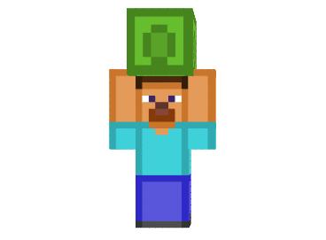 Steve Lifting A Smaragdblock Skin Minecraft Minecraft Mod Download