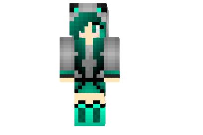 Turquoise Wolf Girl Skin Minecraft Minecraft Mod - Skins para minecraft pe wolf