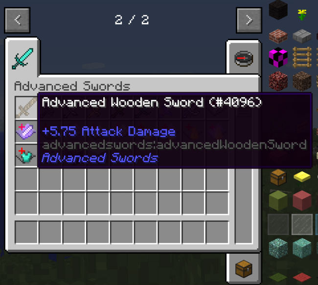 how to make a wooden sword in minecraft pe