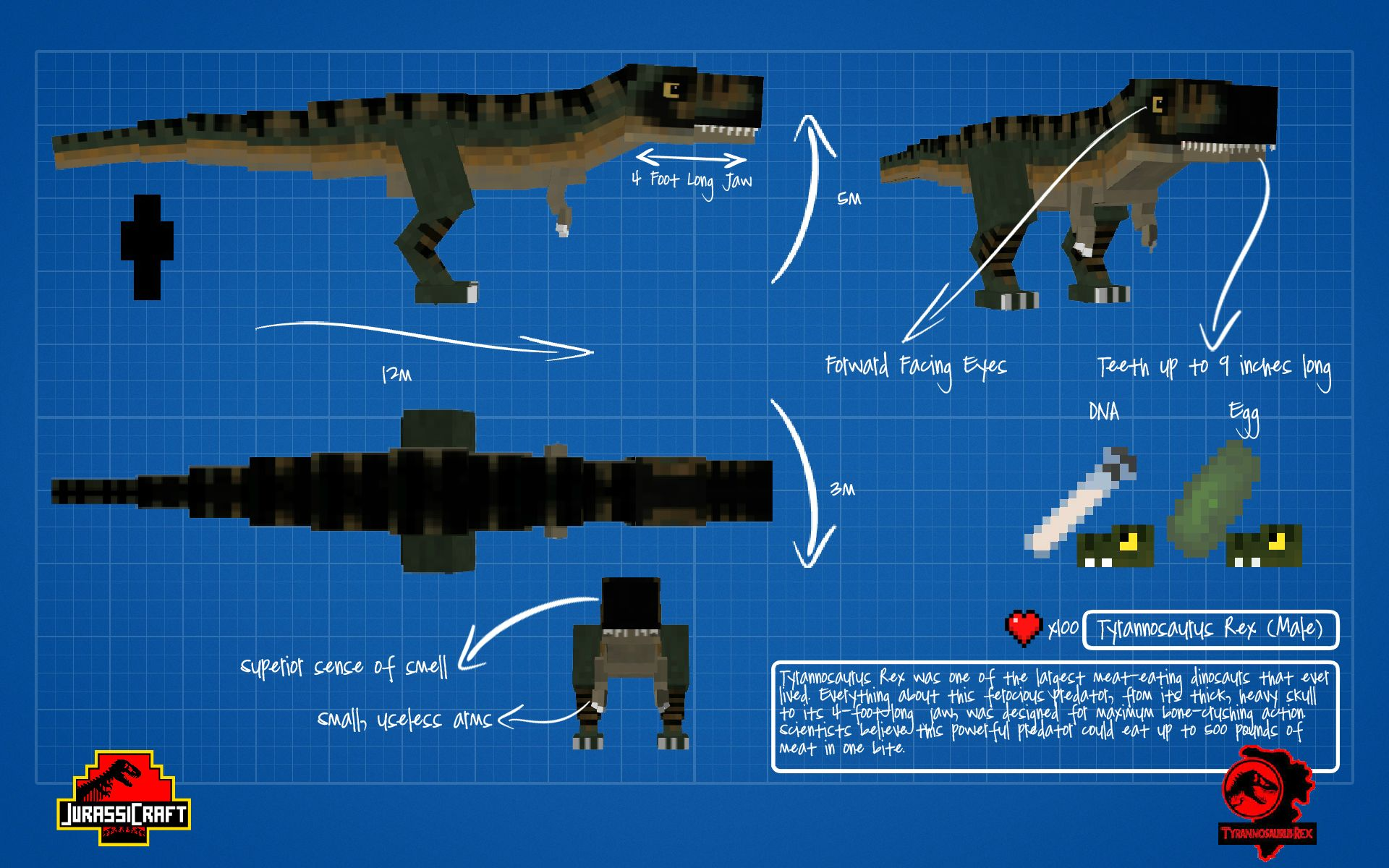 JurassiCraft Mod [1 11 2/1 10 2] – Jurassic Park - Minecraft